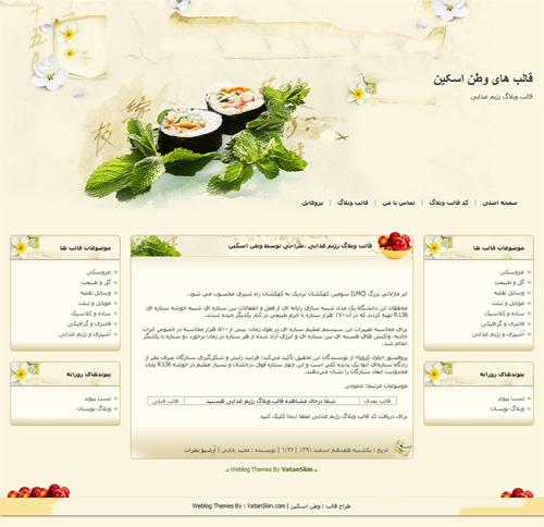 قالب وبلاگ رژیم غذایی