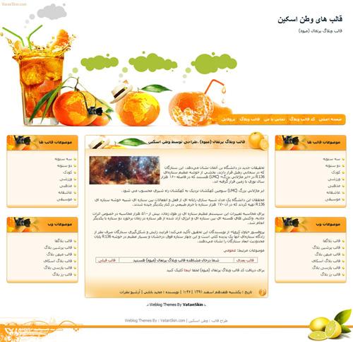 قالب وبلاگ پرتقال (میوه)