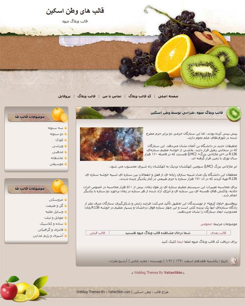 قالب وبلاگ میوه